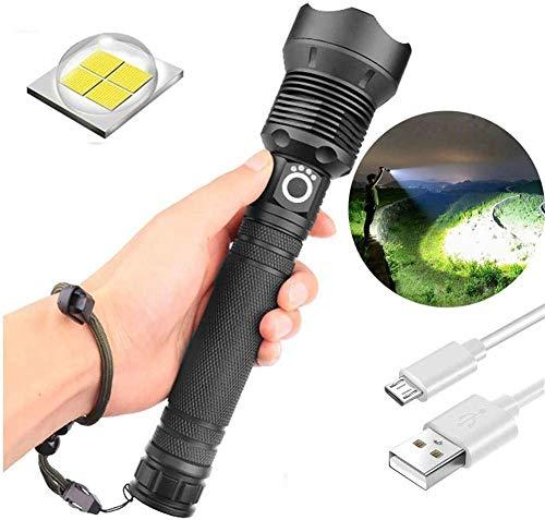 Preisvergleich Produktbild 90000 Lumen Xhp70.2 Leistungsstärkste Led Taschenlampe USB Zoom Taschenlampe Xhp70 Teleskop USB Zoom wasserdichte Camping Taschenlampe (Xhp70 Mit 26650 (2 Batterien)