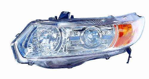 Depo M17-1102P-AS1 Honda Civic Coupe proyector de faros LED chapado en cromo