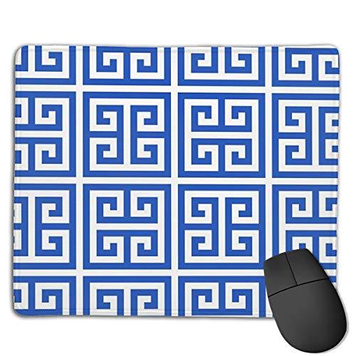 Geometric Pattern Key Bridge Alternate Blue Mouse Pad ,HD Bright Colors Gaming Mouse Pad Custom Design Mat