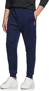 TSLA Men's Fleece Yoga Sweatpants Open Bottom Straight/Jogger Leg Running Casual Loose Fit Athletic Pants with Pockets