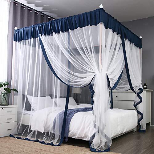 TYSYA vierkante muggennet-bed luifel eenvoudige vloer staande muggennet-bed gordijn zomer insectencontrole huisdecoratie eenvoudige installatie