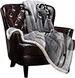 LUSWEET Sherpa Fleece Blanket,Penguins Family Cute Animals Bed Blanket Soft Cozy Luxury Blanket 40'x50',Fuzzy Thick Reversible Warm Fluffy Plush Microfiber Throw Blanket for Couch Bed Sofa
