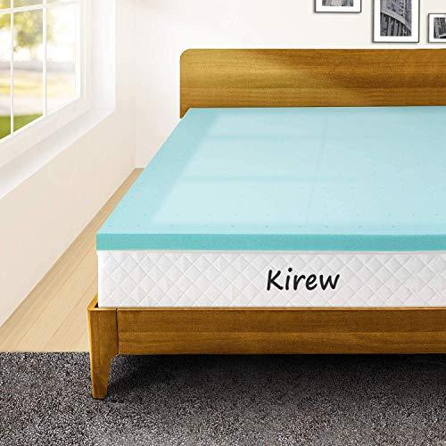 Memory Foam Mattress Topper Queen Bed Topper Gel Foam Mattress Pad 2 Inch, Gel Infused Mattress Foam Topper Bed Mattress Pad Queen Size