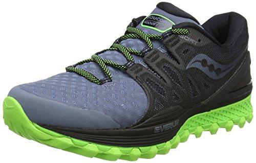 Saucony Xodus ISO 2, Scarpe da Trail Running Uomo, Multicolore (Grey/Black/Slime), 44 EU