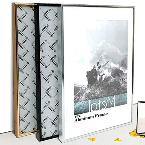 LYDIANZI Fotolijst Metalen Poster Frame Klassieke Aluminium Fotolijsten Voor Muur Opknoping A3 A4 30x30 Certificaat Frame VCC(Size:15X20cm 8inch,Color:Zwart frame)