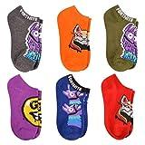 Boys' Fortnite For the Team 6pk Socks (M/L)