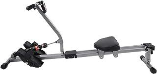 Vikbar träningsro-maskin, Metall Fitness-roddmaskin med 12-växelsmotstånd och 3-läges höjdjustering för träning i hemmet, ...