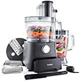 <span class='highlight'><span class='highlight'>VonShef</span></span> Food Processor – 1000W Multifunctional 8in1 Chopper, Mixer with Dough Blade, Spatula, Shredder, Medium / Fine Grater & Slicer – 3.5L Bowl & 1.8L Jug - 2 Speed Settings & Pulse Function
