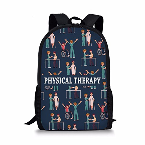 Dellukee School Bags For Children Physical Therapy Print Youth Daypack Backpack