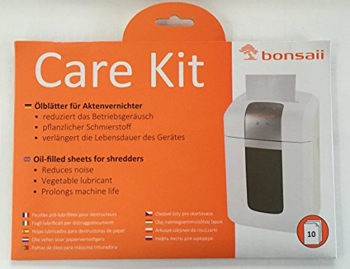 Bonsaii care kit (oil sheets / oiled paper and cleaning kit for shredders, suitable for all types of cuttings, tools, manufacturers) 10-pack