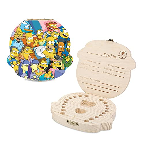 The Simpsons - Caja de dientes para niños (madera)