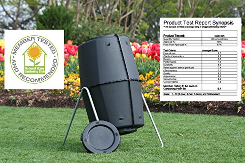 Spin Bin Composter 60 gal. Large Capacity Outdoor Tumbling Compost Bin