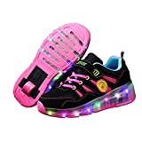 Qneic Roller Sneakers Retractable Wheel Shoes for Girls Boys Kids Thanksgiving Christmas Everyday Gift