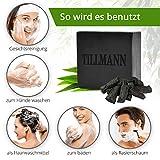 Natürliche Schwarze Seife I Bambuskohle Handgemachte Seife I Naturseife reinigt Ihre Haut porentief I Entschlackender Gesicht & Körperreiniger I Gegen Akne Ekzem I Naturprodukt von Tillmann's - 5