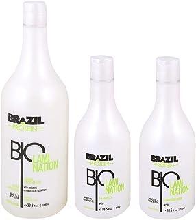 Brazil Protein Bio Lamination Hair System Set of 3, 1000 ml + 550 ml x 2