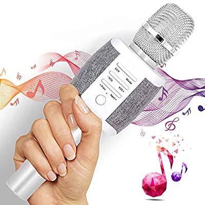 TOSING Wireless Karaoke Microphone for Teenagers Family Adults,4 in 1 Portable Handheld Home Party Bluetooth Karaoke Speaker Machine,Top Birthday Gifts for Girls 2019,Best Present from TOSING