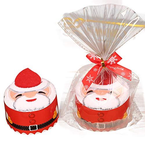 Macabolo Kerstmis creatieve cupcake handdoeken Santa Claus sneeuwpop kerstboom design super zachte katoen handdoek vakantie party cadeau