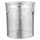 Hemoton 1 St. Edelstahl-Solekorb Nützlicher Gewürzkugel-Gewürzfilter (Silber)