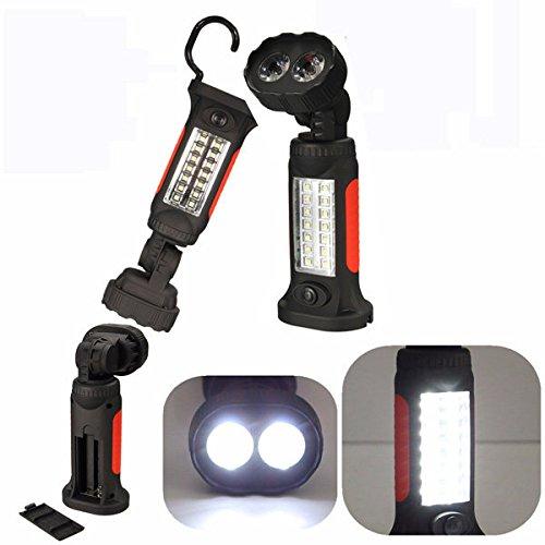 Global Linterna de mano magnética 16 LED de inspección para colgar, acampada