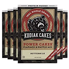 You will receive a Pack of (6) Kodiak Cakes Power Cakes, Non-GMO, Protein Pancake Flapjack and Waffle Mix, Buttermilk, 20 Ounce