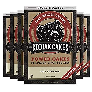 Kodiak Cakes Protein Pancake Power Cakes, Flapjack and Waffle Baking Mix, Buttermilk, 20 Ounce (Pack of 6) 2