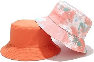 Tie-Dye Sombrero del Pescador Unisex, Bucket Hat Reversible, Sombrero Pescador Algodón Moda, 56-58CM