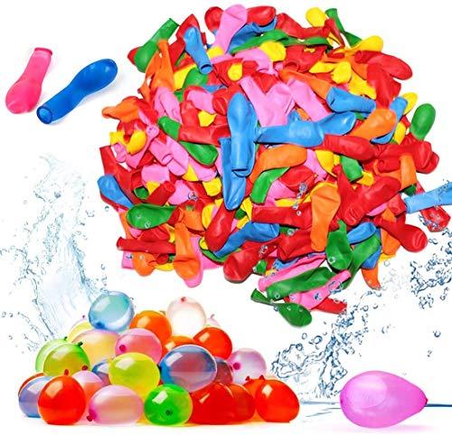 1000 Ballon d'eau Ballons de Bombes à Eau Colorés pour la Fete en Plein air, Jouets du Jardin et de la Plage Idéal pour La Fête De La Piscine D'été