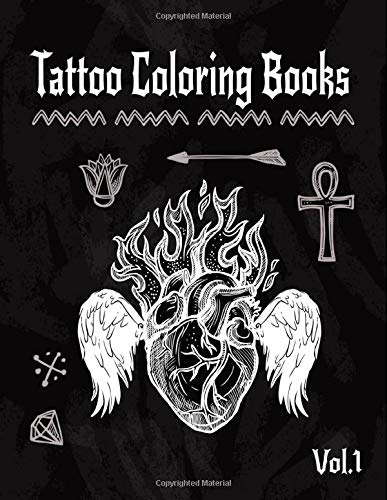 Tattoo Coloring Book: A Coloring Pages For Adult Relaxation With Beautiful Creative Modern Flash Tattoo Designs Classic Style Such As Sugar Skulls, ... and Awesome More! (Body Art & Tattoo, Band 1)