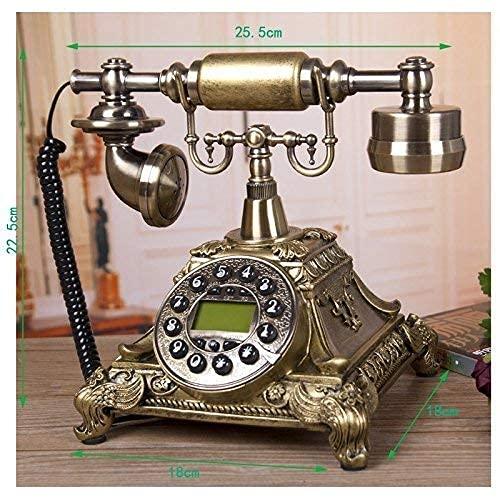FHISD Teléfono Antiguo Retro Europeo Teléfono Antiguo Europeo Identificación de Llamadas Línea Fija Pantalla LCD Teléfono Fijo Teléfono para el hogar, teléfono de Moda