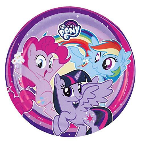 amscan 11012111 9902507 8 Papierteller My Little Pony, Mehrfarbig