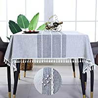 Anti Fading Waterproof Washable Tablecloth for 6-Foot Rectangle Tables