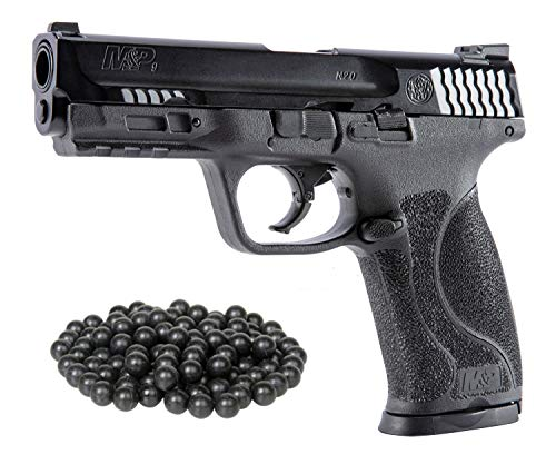 HSA PACKAGE T4E S&W M&P9 M2 .43cal Co2 Semi Auto BlowBack Paintball Pistol W/Free 50ct T4E Rubber Balls.