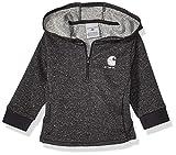 Carhartt Baby Girls Quarter Zip Sweatshirt, Black 219, 24M