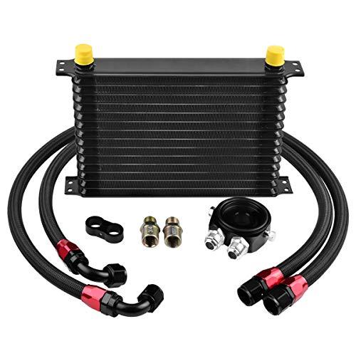 EVIL ENERGY 15 Row AN10-10AN Oil Cooler Kit Universal Engine Transmission Aluminium Alloy Black