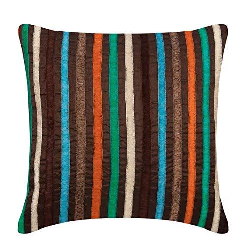 The HomeCentric Housses de coussin décoratives 65 x 65 cm multicolore, Soie Jetez les couvertures de coussin, couvertures faites main de coussin -Bohemian Style