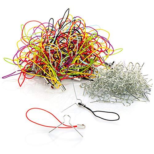 COM-FOUR® 200x hangers voor kerstboomversieringen en Pasen - balhangers voor kerstballen en paaseieren (200 stuks - hangers)