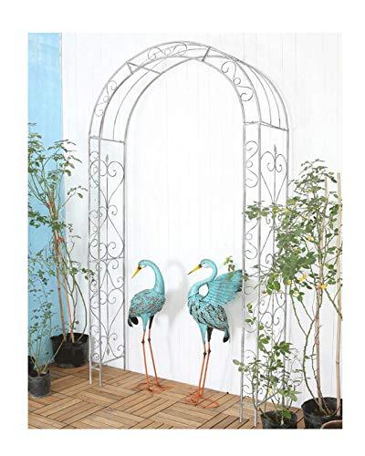 F-XW Arbour de metal para arco de boda, para varias plantas de escalada, arcos de jardín, decoración de fiesta de novia, 117 x 34,5 x 236 cm