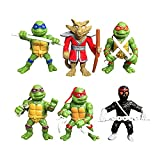 I3C Serie de Las Tortugas Ninja Mutantes Adolescentes Juego de 6 muñecas de Las Tortugas Ninja Mutantes Adolescentes Juego de Juguetes jecoración de Pasteles
