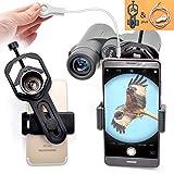 ANQILAFU ユニバーサル 携帯電話のアダプタマウント は - iPhoneのソニーサムスンモト用など - 両眼単眼スポッティングスコープ望遠鏡と顕微鏡との互換性の世界の自然を記録します フィット接眼レンズ径23mm-44mm 【シャッターライン付き】