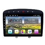 Radio Coche Bluetooth para Peugeot 408 2010-2016 - Autoradio Manos Libres con Pantalla Táctil de 9 Pulgadas Android 9.0 con GPS, Soporte WiFi/Mirror Link/Radio FM/USB,2+32g