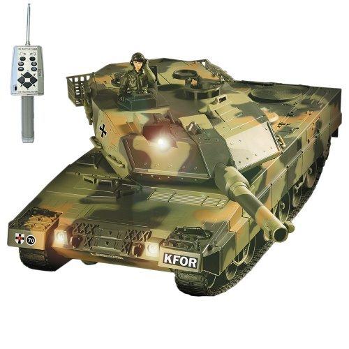 German Leopard 2A5 KFOR-Edition RC ferngesteuerter Panzer BB Softair Schuss,Sound,Beleuchtung,RTR