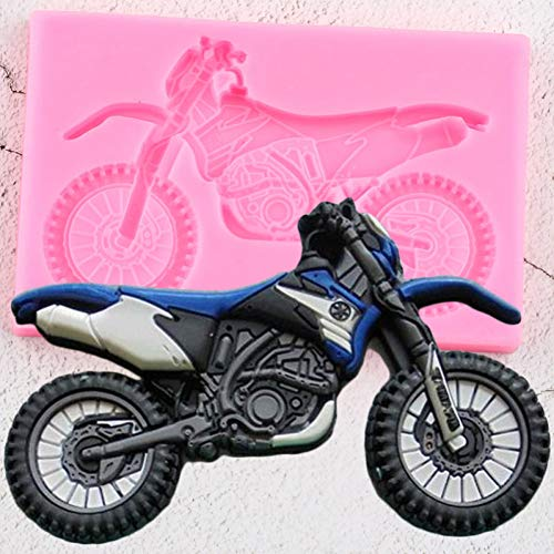 RYWDBF 3D Yamaha Motorrad Silikonformen Kuchen Dekorieren Fondant Schimmel DIY Backen Fimo Clay Candy Chocolate Gumpaste Formen
