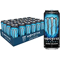 24-Pack Monster Energy Zero Sugar, Low Calorie Energy Drink, 16 Ounce