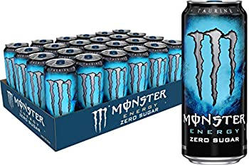 Monster Energy Zero Sugar Low Calorie Energy Drink 16 Ounce  Pack of 24