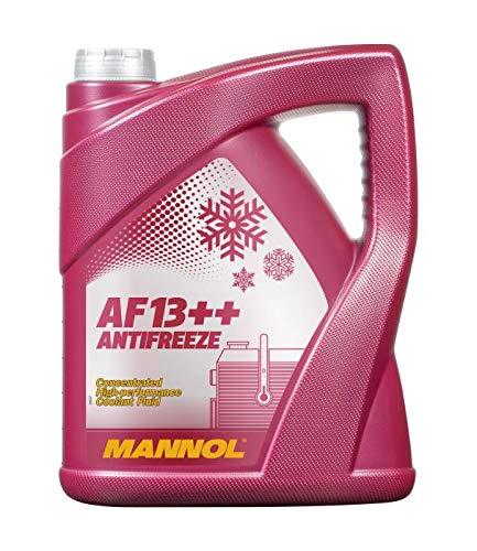 MANNOL 1 x 5 Liter, AF13++ Antifreeze Kühlerfrostschutz Konzentrat Rot G13