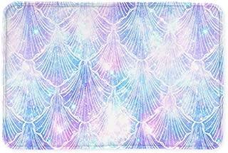 Kameng Bath Mat Rugs - Mermaid Galaxy Print Non-Slip Rectangle Floor Entryways Outdoor Indoor Front Door Mat Carpet - 15.7 x 23.6Inch