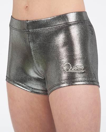 Quatro Gymnastics Girls Pantalones cortos de acero, 32 pulgadas adulto extra pequeño, 10-11 años,