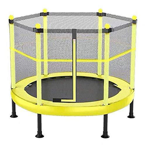 TGSC Trampolín con Caja Cerrada Mini trampolín para niños Ejercicio de Rebote Combo Bounce Jump Peso de Apoyo hasta 100 kg Azul 48 Pulgadas