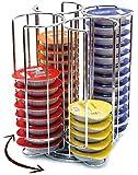 Cobb Industries® - Valéria CH0012 - Portacápsulas giratorio con capacidad para 52 cápsulas Tassimo acabado cromado Distribuidor