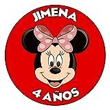 OBLEA de Papel de azúcar Personalizada, 19 cm, diseño de Disney Minnie Mouse